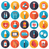 Set flat human organs icons illustration concept. Royalty Free Stock Photo