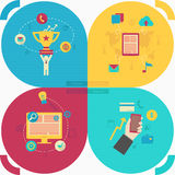 Set of flat icon design for web Royalty Free Stock Image