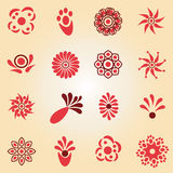 Set of flat icon flowers Royalty Free Stock Photo