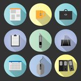 set flat icon office object Stock Photo