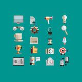 Set from 20 flat icons Royalty Free Stock Photography