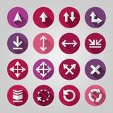 Set of flat icons Stock Photos