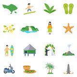 Set Of Flat Icons About Bali Stock Images