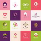 Set of flat icons for beauty Stock Images