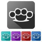 Set Flat icons of brass knuckles vector Royalty Free Stock Photography