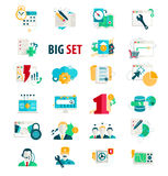 Set flat icons for business Stock Images
