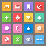 Set of flat icons Royalty Free Stock Photo