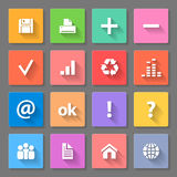 Set of flat icons Royalty Free Stock Photos