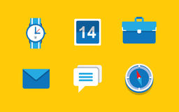 Set of flat icons Royalty Free Stock Photography