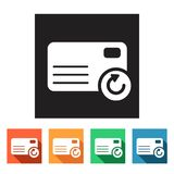Set of flat icons (connection, letter, mail),  Royalty Free Stock Photo