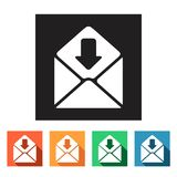 Set of flat icons (connection, letter, mail),  Stock Photos