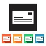 Set of flat icons (connection, letter, mail),  Stock Photography