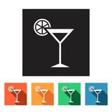 Set of flat icons (drink, beverage),  Stock Photo