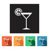 Set of flat icons (drink, beverage),  Stock Photo