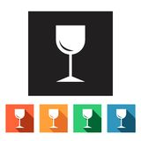 Set of flat icons (drink, beverage),  Royalty Free Stock Image