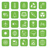 Set of flat icons Ecology and Environment Stock Photography