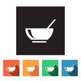 Set of flat icons (food, restaurant),  Royalty Free Stock Photo