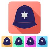 Set Flat icons of helmet metropolitan British Royalty Free Stock Images