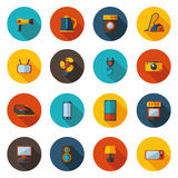 Set of flat icons for household appliances Stock Photos