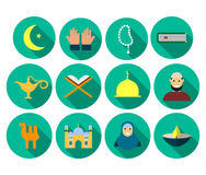 Set of flat icons with long shadow. Ramadan Kareem. Set of flat icons with long shadow.Ramadan Kareem. Eps10 Royalty Free Stock Photo