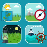 Set of flat icons. Royalty Free Stock Images