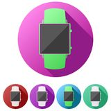 Set flat icons of Original design smartwatch. Stock Photo
