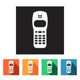 Set of flat icons (phone, telephone, communication),  Stock Images