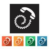 Set of flat icons (phone, telephone, communication),  Royalty Free Stock Image