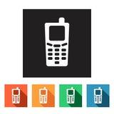 Set of flat icons (phone, telephone, communication),  Stock Image