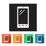 Set of flat icons (phone, telephone, communication),  Stock Photography