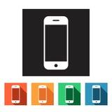 Set of flat icons (phone, telephone, communication),  Stock Photo