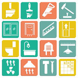 Set of flat icons repair. Vector illustration stock illustration