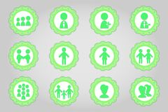 Set of flat icons in retro style. Part 10 Royalty Free Stock Photo