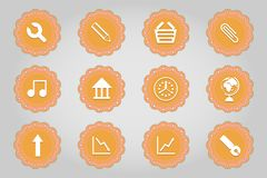 Set of flat icons in retro style. Part 3 Royalty Free Stock Images