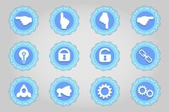 Set of flat icons in retro style. Part 7 Royalty Free Stock Photography