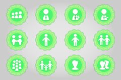 Set of flat icons in retro style. Part 9 Royalty Free Stock Image