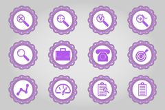 Set of flat icons in retro style. Part 121 Stock Photos