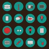 Set of flat icons on retro theme Royalty Free Stock Image