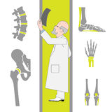 Set of Flat Icons From Surgery and Orthopedics Royalty Free Stock Photos