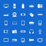 Set of flat icons. Technology and communications. Stock Images
