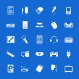 Set of flat icons. Technology and communications. Royalty Free Stock Photos