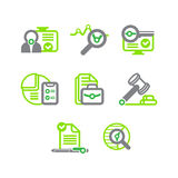 A set of flat icons on a theme of business Royalty Free Stock Image