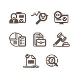 A set of flat icons on a theme of business Royalty Free Stock Images