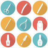 Set of flat icons of tools and accessories for Royalty Free Stock Images
