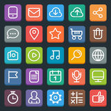Set of flat icons. Set of 25 flat trendy icons for web and mobile applications. Full editable vector royalty free illustration