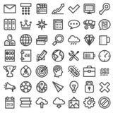 Set flat icons. Vector illustration Royalty Free Stock Photos