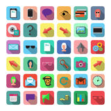 Set of Flat Icons. Stock Photo