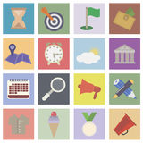 Set flat icons Stock Images