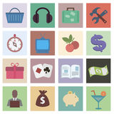 Set flat icons Royalty Free Stock Image