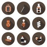 Set of flat icons village Stock Photo